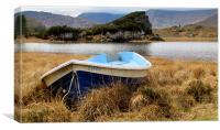 Boat  at the Lake, Canvas Print
