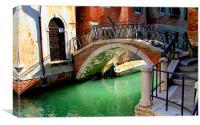 Bridge in Venice, Canvas Print