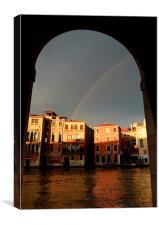 Rainbow over Venice, Canvas Print