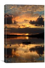 Sunset in Dingle, Canvas Print