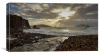 Wild day Dunquin, Canvas Print