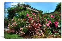 The Rose Garden, Canvas Print