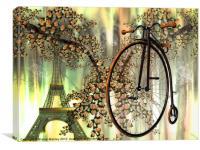 A Paris Spring, Canvas Print