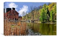 Spring at the Old Mill, Canvas Print