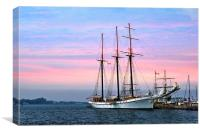 Tallship ..Empire Sandy, Canvas Print
