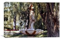 Lady of the Fountain, Canvas Print