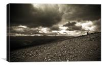 Lost Hikers on Helvellyn, Canvas Print