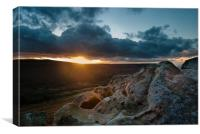 Sunset at Scugdale North Yorkshire, Canvas Print