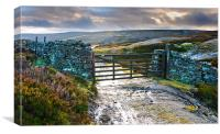 Yorkshire Dales Gate Upper Swaledale, Canvas Print
