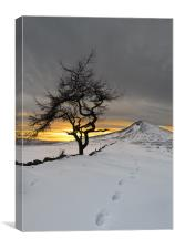 Roseberry Topping, Winter Sunset, Teesside, Canvas Print