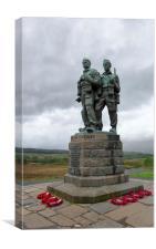 Commando Memorial Scotland Spean Bridge , Canvas Print