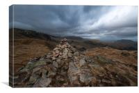 Cairn near Little Hart Crag, Canvas Print