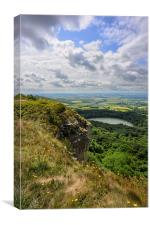 Sutton Bank Yorkshire with Gliders, Canvas Print