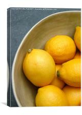 A bowl of lemons, Canvas Print
