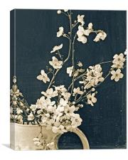 A jug of blossom, Canvas Print