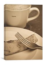 Coffee and pancakes, Canvas Print