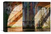 The railway bridge, Canvas Print