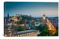 Edinburgh at Dusk, Canvas Print