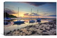Cramond - River Almond Mouth, Canvas Print