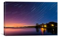 Harperrig Reservoir Startrails, Canvas Print