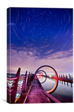 Falkirk Wheel Startrail, Canvas Print