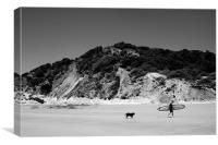 Dude and Dog, Canvas Print