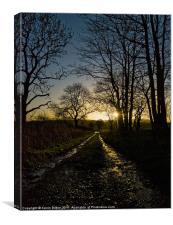SUNRISE CANVAS:SCOTLAND, Canvas Print