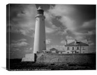 Lighthouse at Whitley bay, Canvas Print