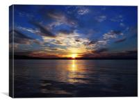 Sunset on The Firth of Forth., Canvas Print