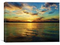 Forth sunset, Canvas Print