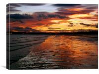 Edinburgh Portobello sunset, Canvas Print