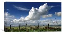 Clouds over the fence, Canvas Print