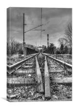 On The Right Track, Canvas Print