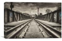 On The Rails, Canvas Print
