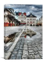 Rynek Reflections, Canvas Print
