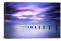 Seascape in Amethyst, Canvas Print