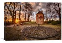 Castle Hill, Cieszyn, at Sunset, Canvas Print