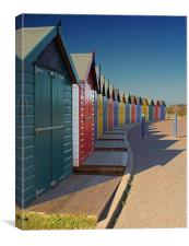 Warren Beach Huts, Canvas Print