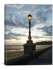 Lamp at Sunset, Canvas Print