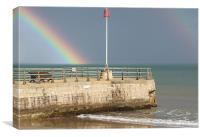 Rainbows on Swanage Bay, Canvas Print