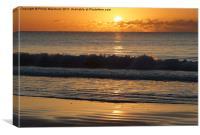 Sunrise on Sunday, Canvas Print