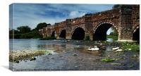 Bridge across the River Stour, Canvas Print