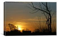 Bourne Valley Sunrise, Canvas Print