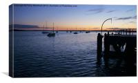 Moored for the night, Canvas Print
