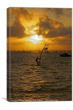 Windsurfer at Sunset, Canvas Print