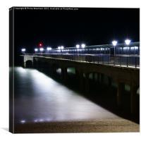 Boscombe Pier at NIght, Canvas Print