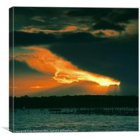 Red Sky over Brownsea, Canvas Print