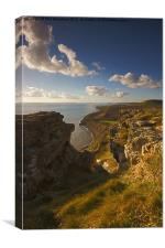 West from Houns-Tout Cliff, Canvas Print