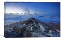 Wave on Rocks, Canvas Print