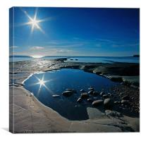 Kimmeridge Reflection, Canvas Print